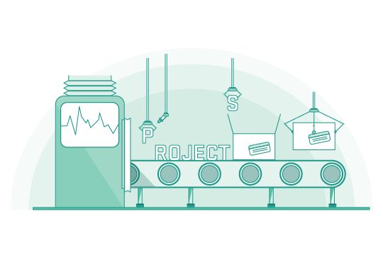 project management illustration green transparent