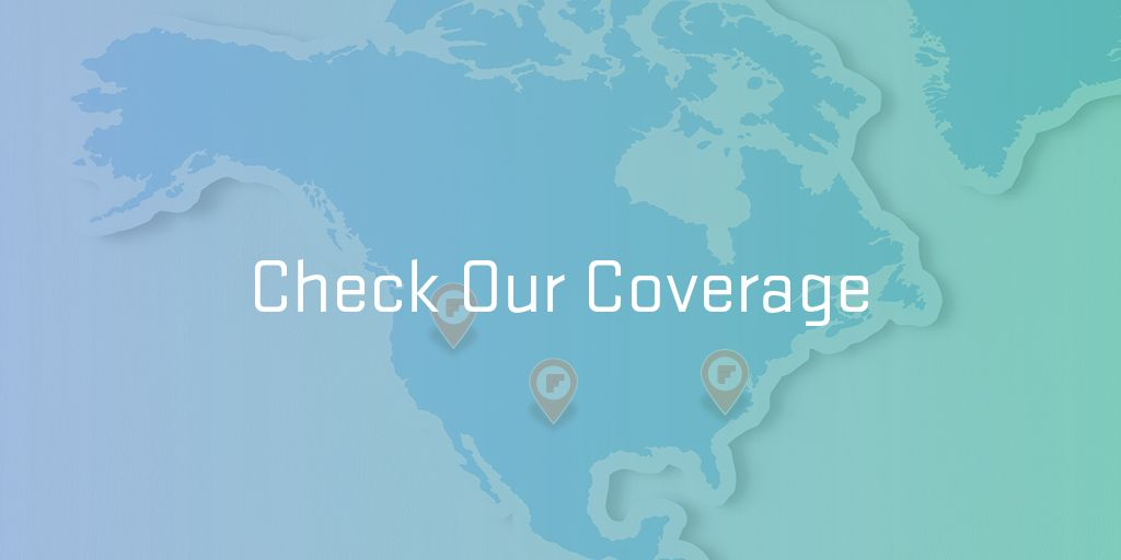 check our coverage header with map of north america