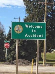 Accident, Maryland Welcome Sign